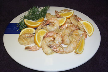Honey Mustard Prawns