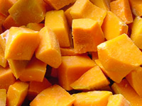 Pumpkin diced