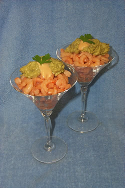 Shrimp Cocktail with Avocado Sauce