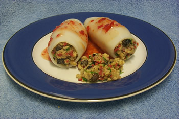 Savoury Stuffed Squid Tubes